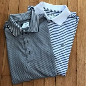 Lot of 2 Izod Golf Polo Shirts size medium.
